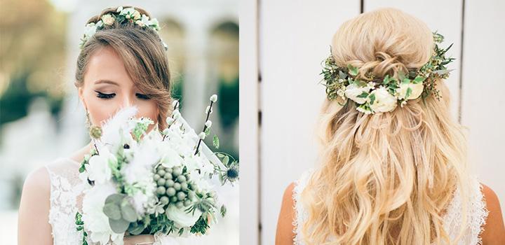 تاج عروس تزئینی با گل