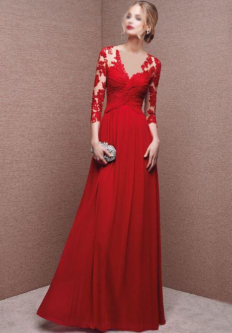 لباس عقد قرمز