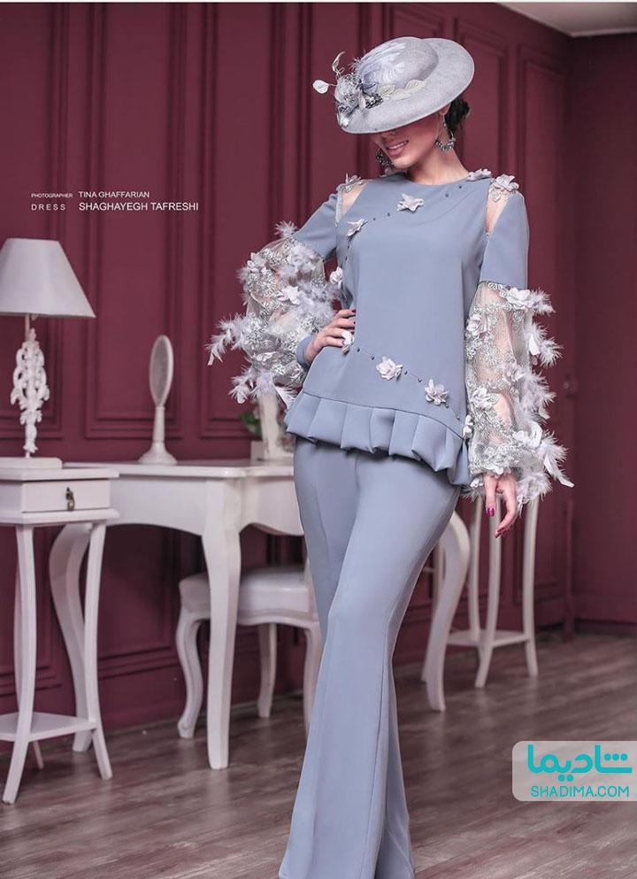 لباس عقد آبی